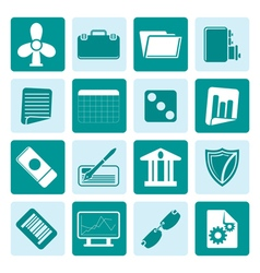 One tone Business and Office Icons vector image