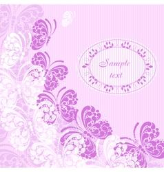 Postcard with butterflies vector image vector image
