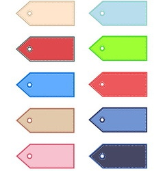 price tag set vector image vector image