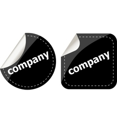 company word on black stickers button set label vector image vector image