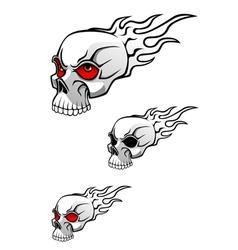 danger evil skull vector image vector image