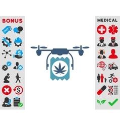 Drugs Drone Delivery Icon vector image vector image