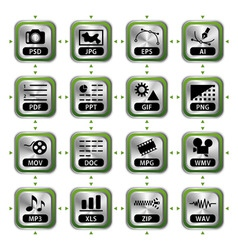 file icon set vector image vector image