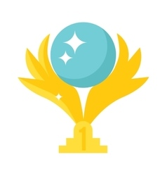 Golden wings award vector image