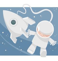 little spaceman cartoon vector image vector image