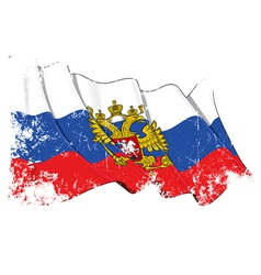 Russia State Flag Grunge vector image vector image