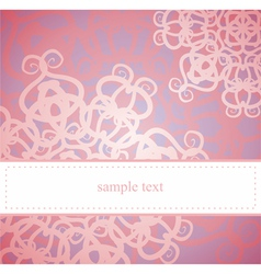 Sweet pink floral card or invitation vector image vector image