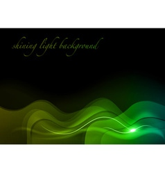 wave neon light vector image vector image