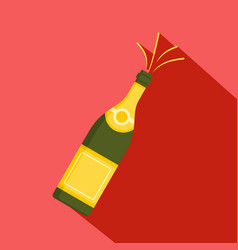 bubble champagne icon flat style vector image