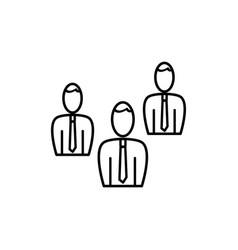 businessmen team icon vector image