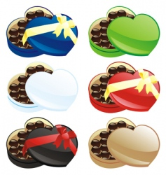 chocolate boxes vector image vector image