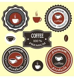 Coffee labels for design vector image vector image