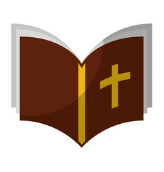 holy bible isolated icon vector image vector image