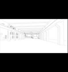 industrial buildings vector image vector image