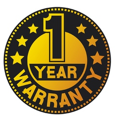 One year warranty vector image vector image