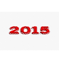 Abstract 3D Year 2015 vector image