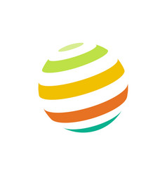 Abstract colorful sphere logo vector