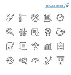assessment line icons vector image