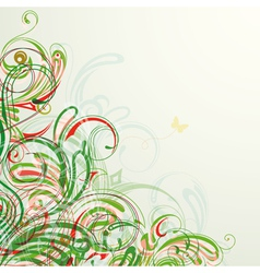 background on a summer theme vector image