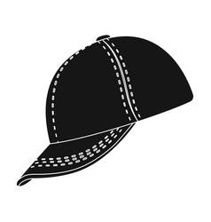 baseball cap baseball single icon in black style vector image