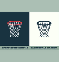 basketball basket icon game equipment vector image