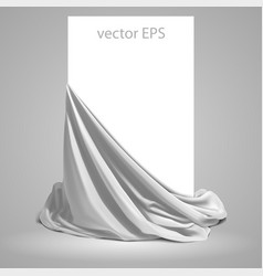 Beautifully draped white silk place for your vector