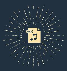 Beige wav file document download wav button icon vector
