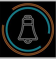 bell icon - alarm symbol vector image