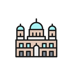 berlin cathedral landmark german flat color vector image