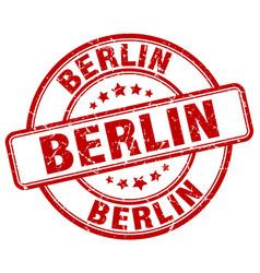Berlin red grunge round vintage rubber stamp vector