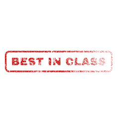 Best in class rubber stamp vector