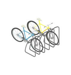 bicycle parking isometric vector image