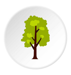 big green tree icon circle vector image
