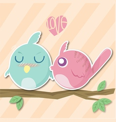 Bird valentine vector