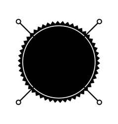 boho style seal stamp vector image vector image