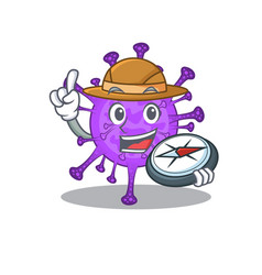 Bovine coronavirus an explorer with a compass vector