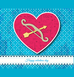 bow and arrows inside the heart composition vector image