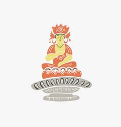 Buddha figure from korean buddhist mythology vector