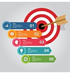 Business target infographic dart board arrow vector