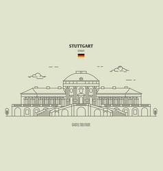 castle solitude in stuttgart vector image