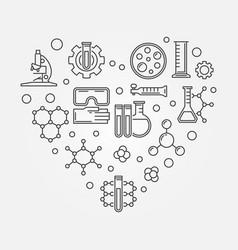 Chemistry heart creative symbol vector