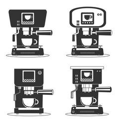 coffee machine icons vector image