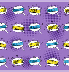 Comic bright seamless pattern vector