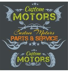 Custom motors - emblem set vector