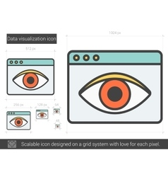 Data vizualization line icon vector