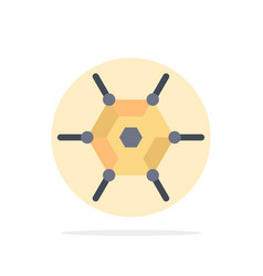Decentralized network technology abstract circle vector
