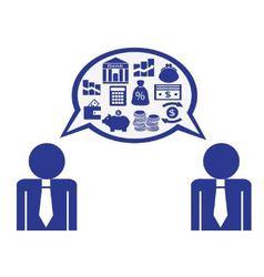 Dialogue about finances vector