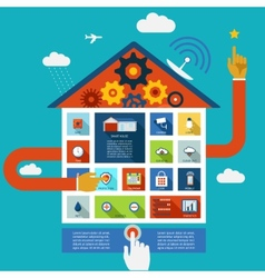 display panel to control a smart house vector image