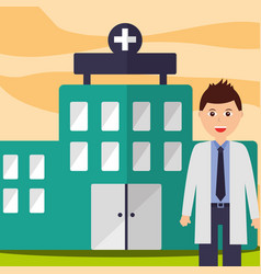 doctor physician staff professional hospital vector image