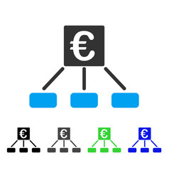 Euro distribution links flat icon vector